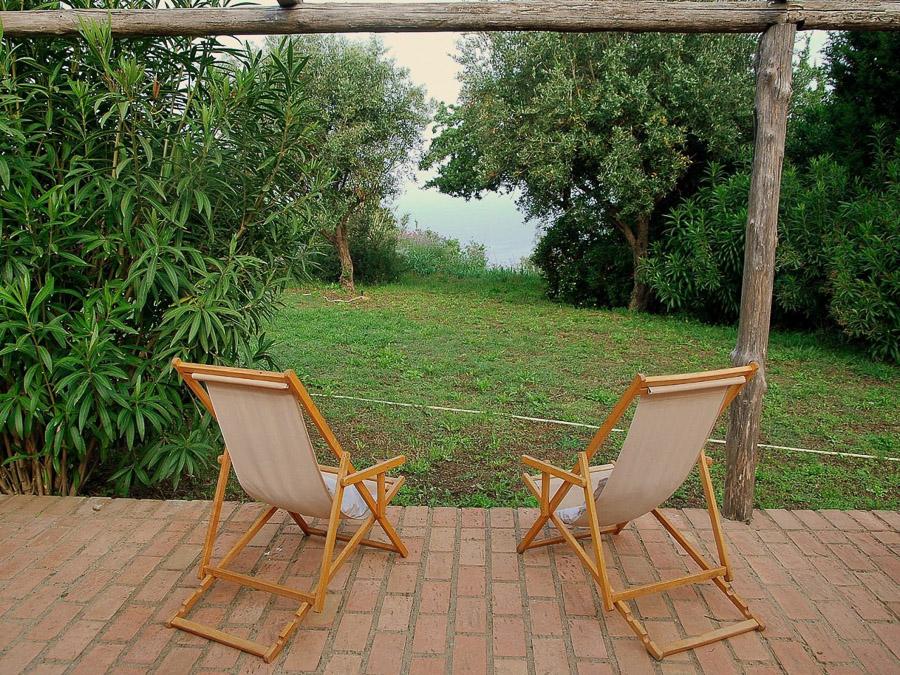 Casa Antonia – Ferienhaus auf herrlichem Terrain am Capo Vaticano - Ausblick zum Meer