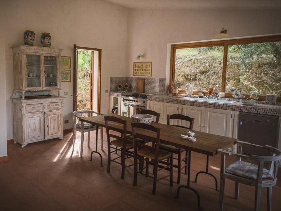 Casa Antonia – Ferienhaus auf herrlichem Terrain am Capo Vaticano - Essbereich