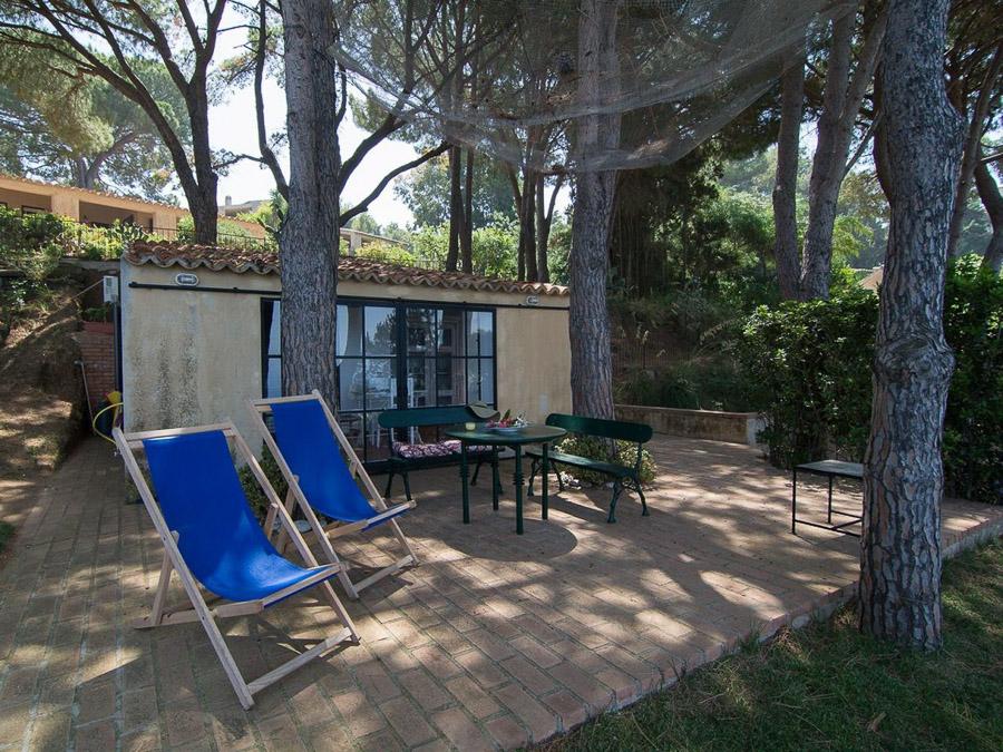 Casa Boccia – Ferienhaus mit idyllischer Lage und traumhaftem Meerblick am Capo Vaticano, Kalabrien, Italien - Garten