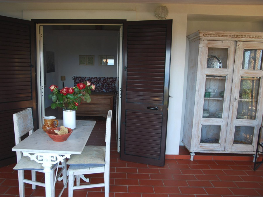 Casa Boccia – Ferienhaus mit idyllischer Lage und traumhaftem Meerblick am Capo Vaticano, Kalabrien, Italien - Veranda