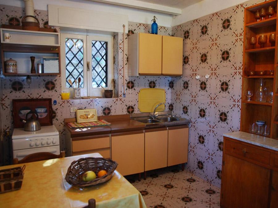 Strandnahes Ferienhaus in der Natur am Capo Vaticano - Küche