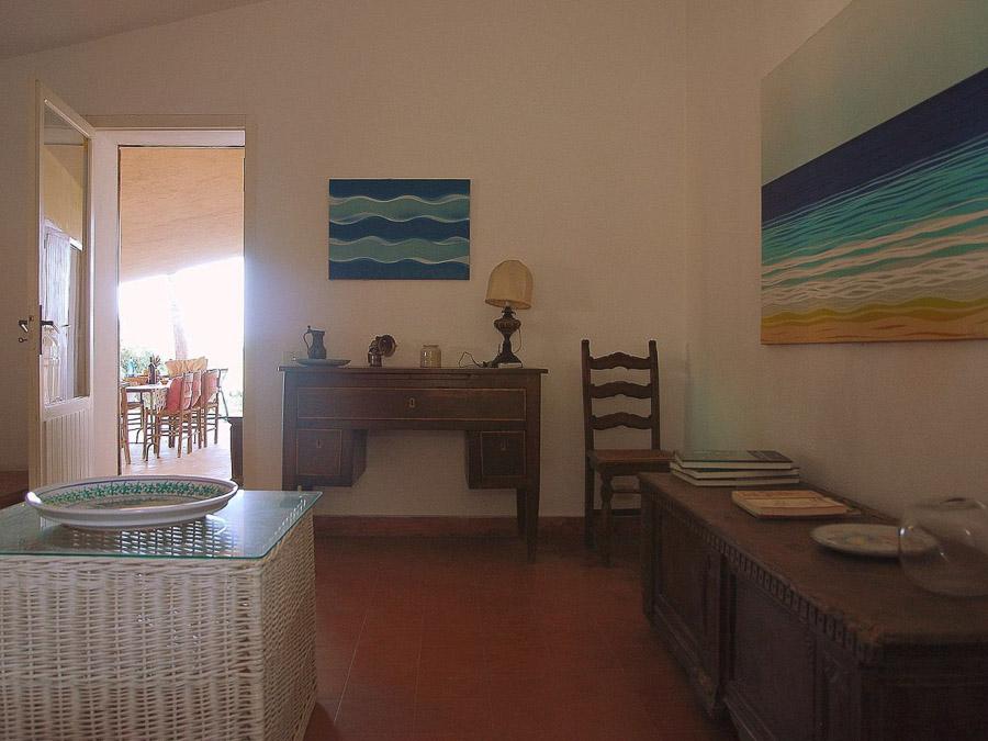Strandnahes Ferienhaus in der Natur am Capo Vaticano - Wohnbereich