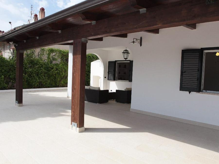 Casa Melograno – Moderne Ferienwohnung mit Pool am Capo Vaticano in Kalabrien, Süditalien - Veranda