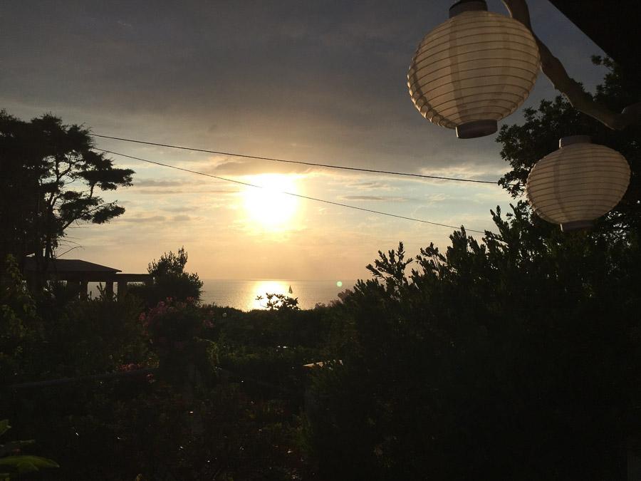 Casa Theo- Ferienhaus am Capo Vaticano mit herrlichem Meerblick - Abendstimmung
