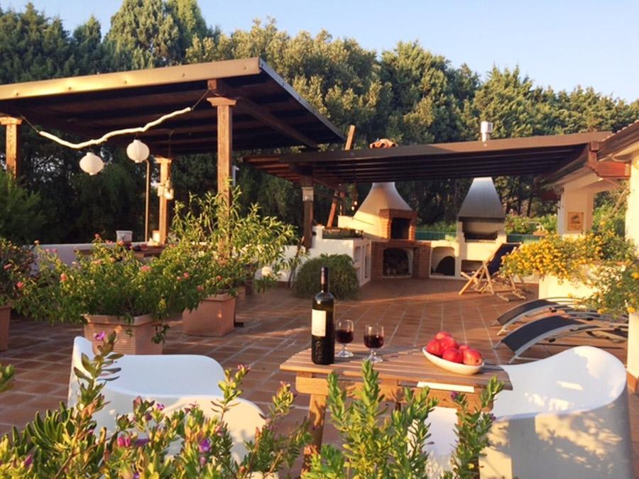 Casa Theo- Ferienhaus am Capo Vaticano mit herrlichem Meerblick - Aussenbereich