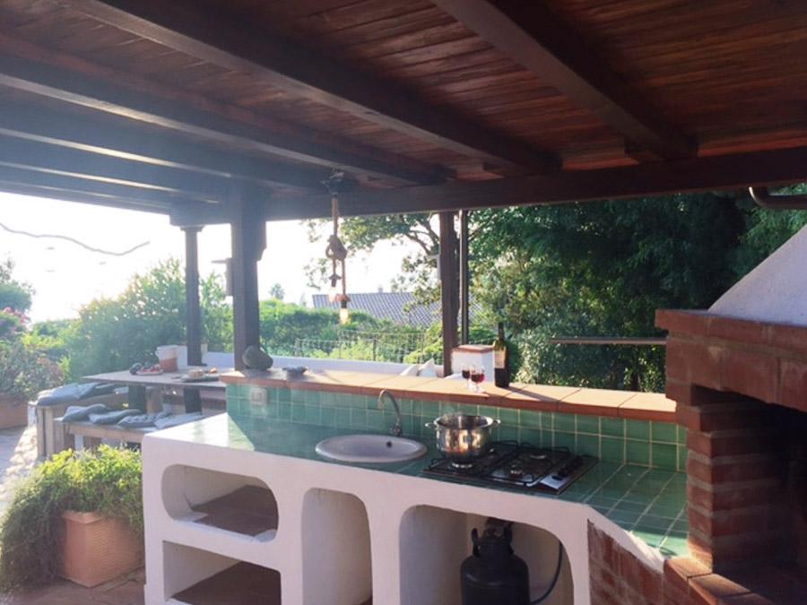 Casa Theo- Ferienhaus am Capo Vaticano mit herrlichem Meerblick - Grill