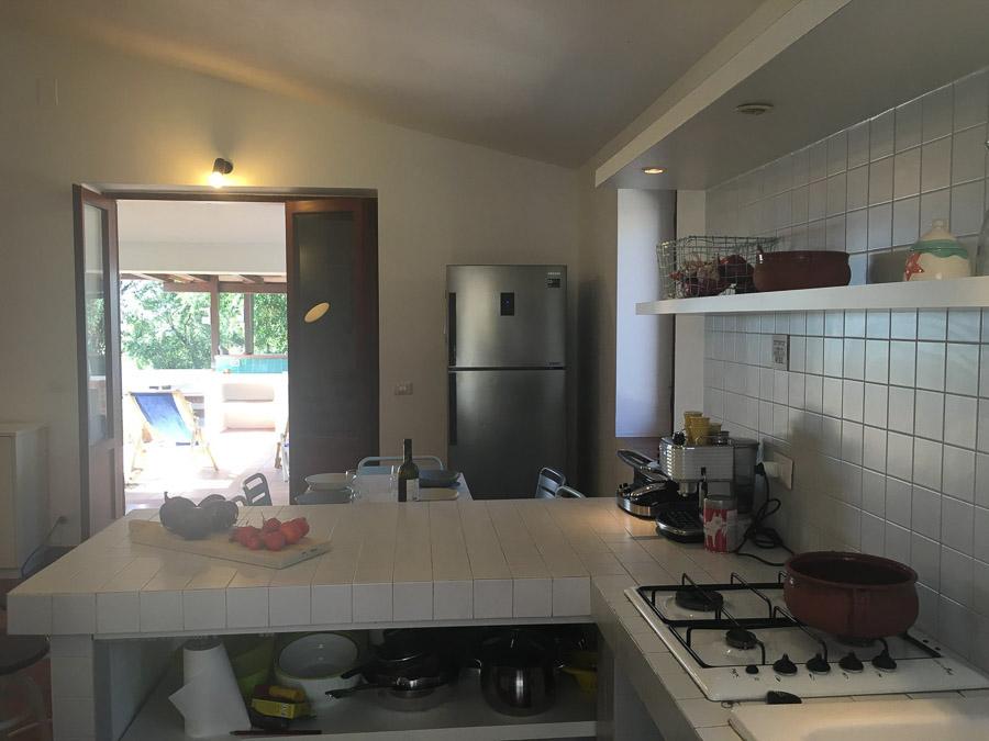 Casa Theo- Ferienhaus am Capo Vaticano mit herrlichem Meerblick - Küche