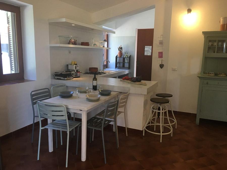 Casa Theo- Ferienhaus am Capo Vaticano mit herrlichem Meerblick - Wohnküche