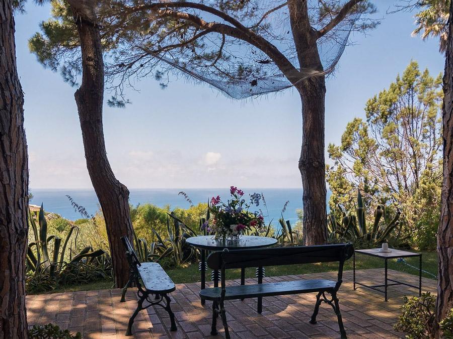 Casa Boccia – Ferienhaus mit idyllischer Lage und traumhaftem Meerblick am Capo Vaticano, Kalabrien, Italien - Terrasse