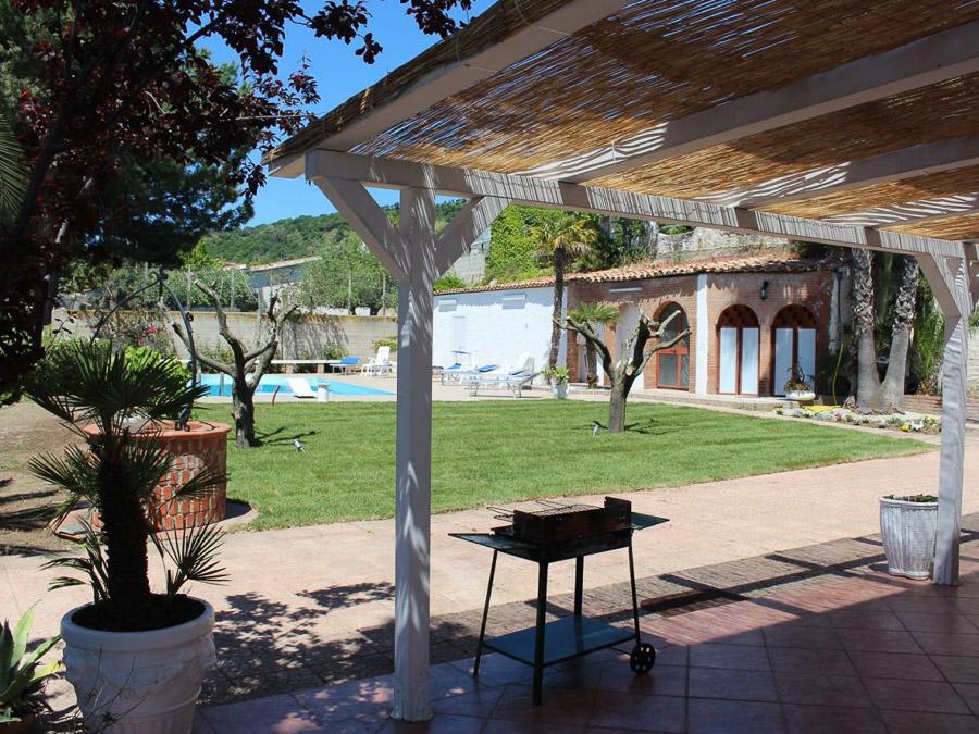 Villa Anna am Capo Vaticano Kalabrien - eine Ferienvilla - Grillbereich