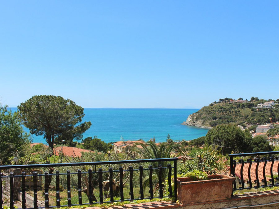 Villa Anna am Capo Vaticano Kalabrien - eine Ferienvilla - Meerblick