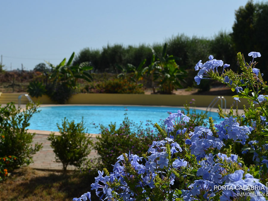 modernes, strandnahes Ferienhaus am Capo Vaticano - Pool