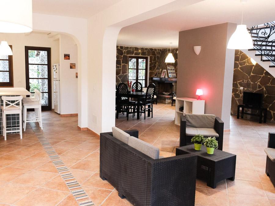 Villa Anna am Capo Vaticano Kalabrien - eine Ferienvilla - Wohnraum