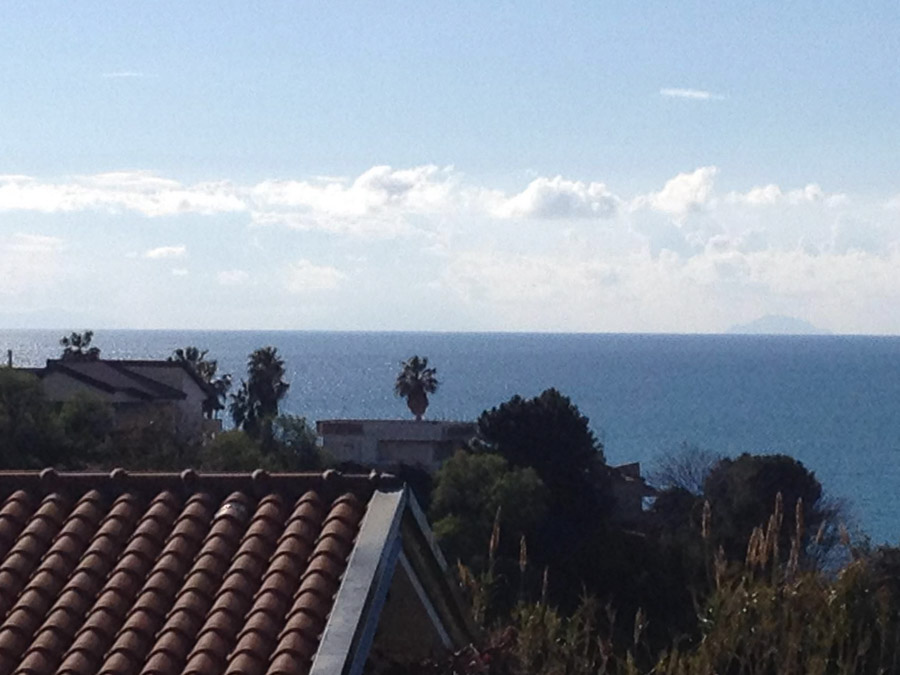 Villetta Manuela – Meerblick, strandnah und mit Pool Capo Vatiano - Aussicht aufs Meer
