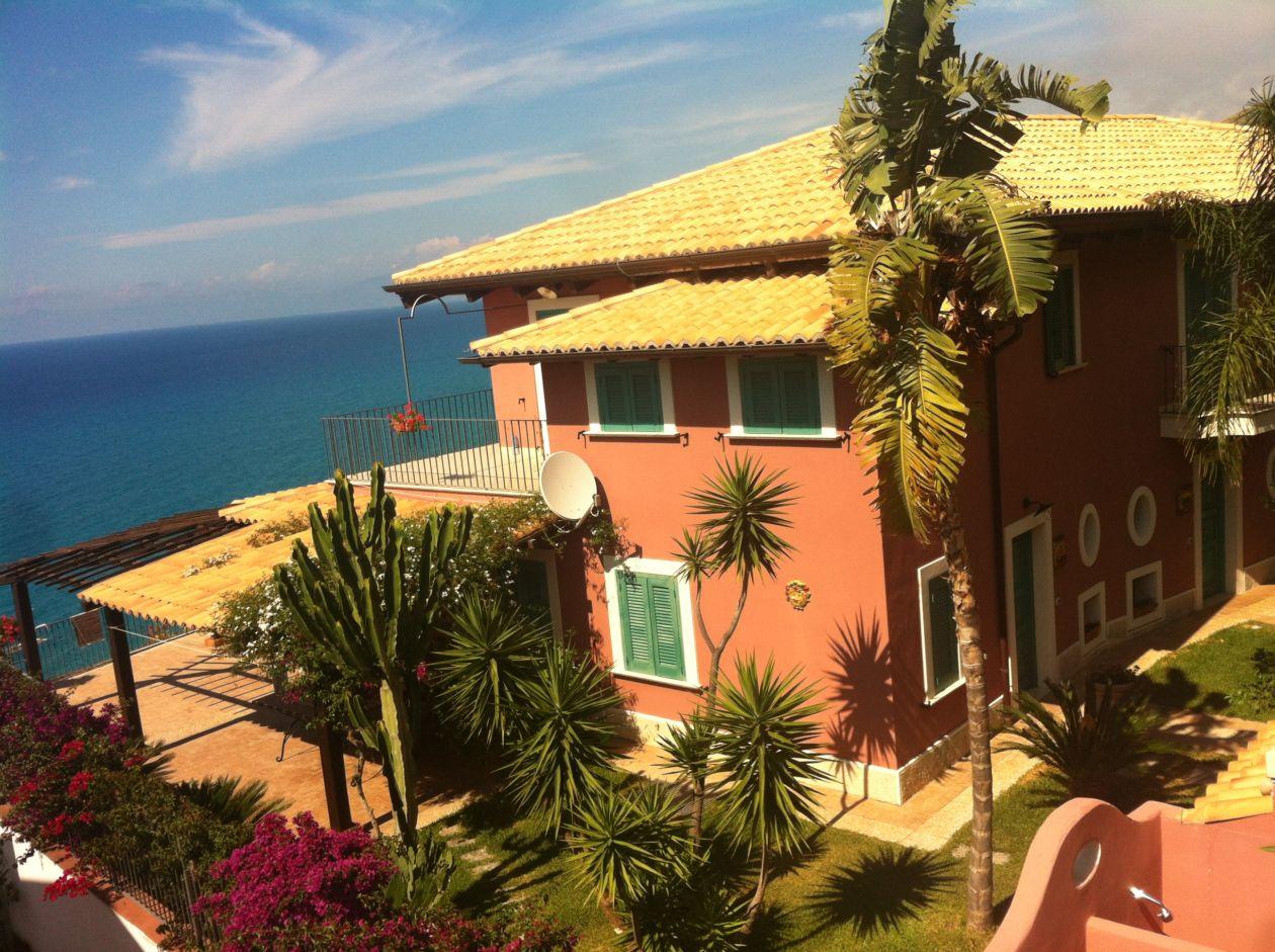 Ferienhaus Villa Gioia Aussicht zum Meer