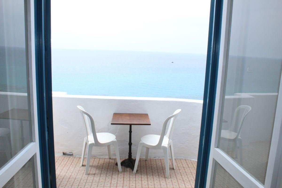 Terrasse Einzimmerwohnung Residenza Gherly